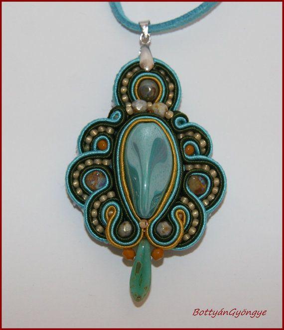 Antique soutache pendant / necklace by BottyanGyongye on Etsy