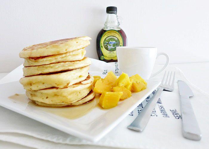 Pancakes mit griechischem Joghurt