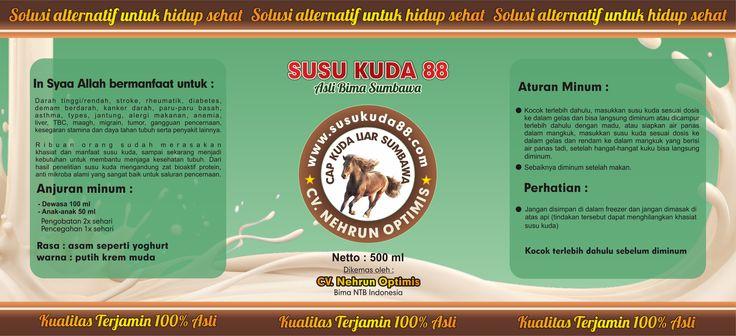 Desain Label Botol Susu Kuda Sumbawa