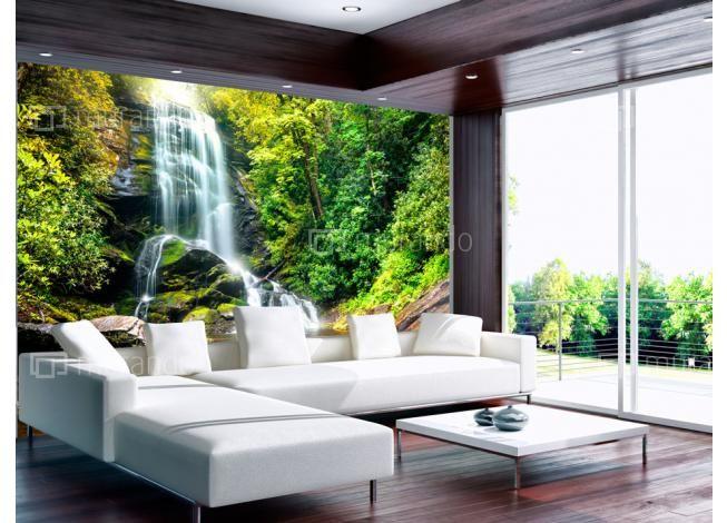 Lesní vodopád #fototapety #homedesign