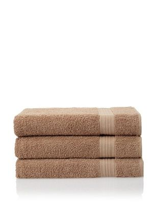 Savannah by Chortex 3 Piece Bath Sheet Set, Cappuccino