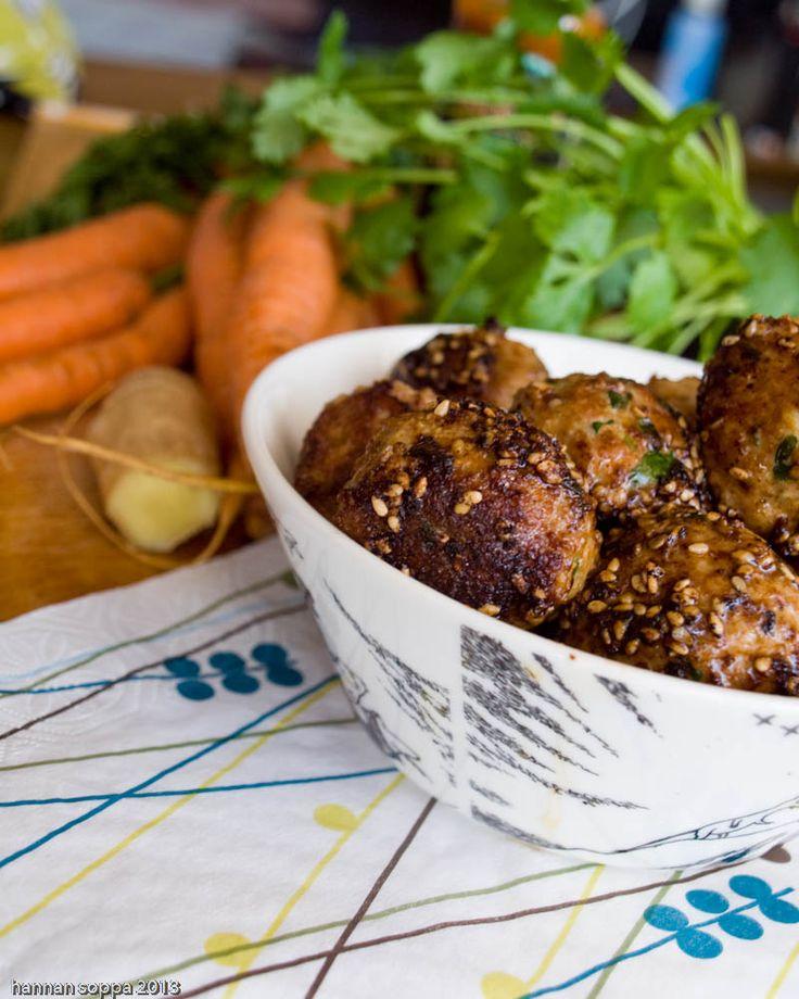 Lihapullat hoisin-kastikkeessa / Hannan soppa