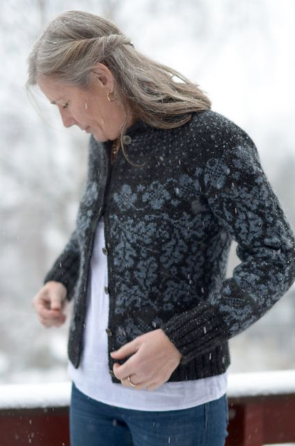 Ravelry: Sjølingstadkofta pattern by Tori Seierstad I like the tone on tone colorway of this sweater!