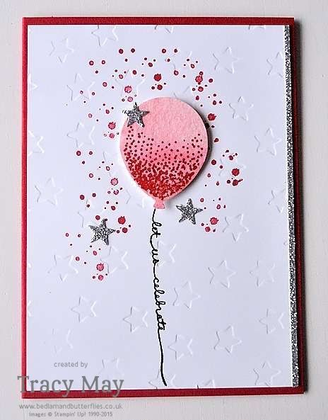 Balloon Celebration by Stampin' Up! – Celebration card for Global Design Project Celebration Challenge #GDP015 I'm back on the challenge merry go round this week, entering #GDP015, with this celebrati