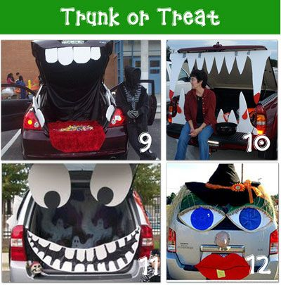 trunk or treat - Halloween Decorated Cars