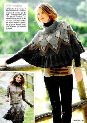 Irish crochet &: KNITTING PONCHO-SKIRT ... ЮБКА-ПОНЧО СПИЦАМИ