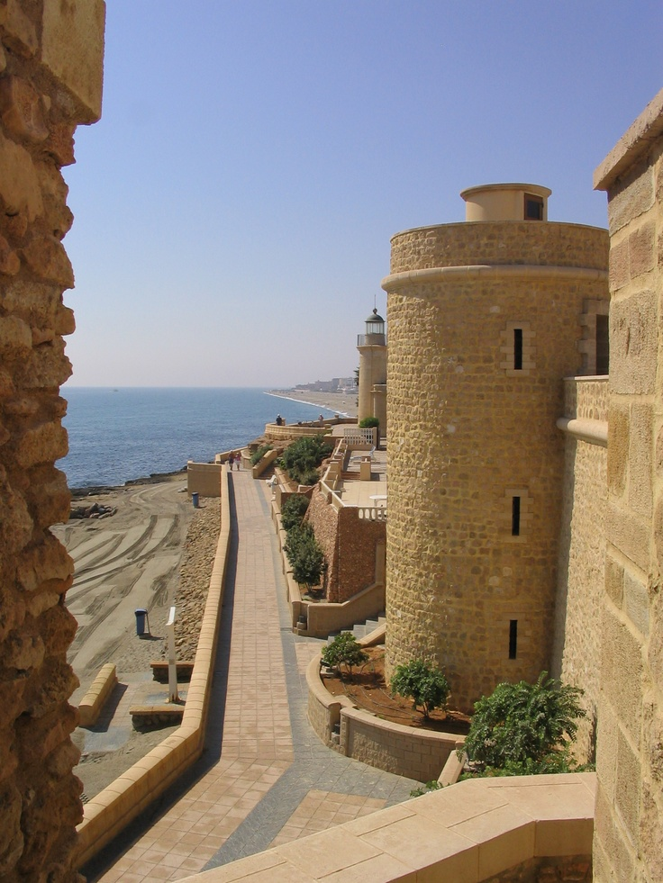 Castillo de Santa Ana (Saint Anna Castlle) Roquetas de Mar - Almeria, Spain. http://www.costatropicalevents.com/en/costa-tropical-events/andalusia/welcome.html
