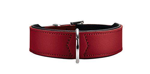 Aus der Kategorie Klassische Halsbänder  gibt es, zum Preis von EUR 13,80  Verstellmöglichkeit: 30,0 - 34,5 cm. Material: Crouponleder/Nappaleder, Metall: nickel, Farbe: rot/schwarz