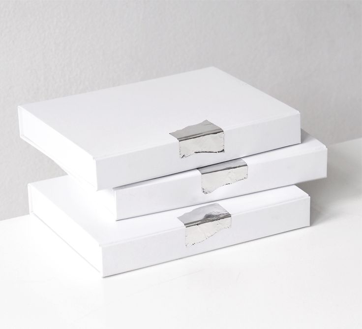 Love Aesthetics Atelier packaging / white boxes silver seals