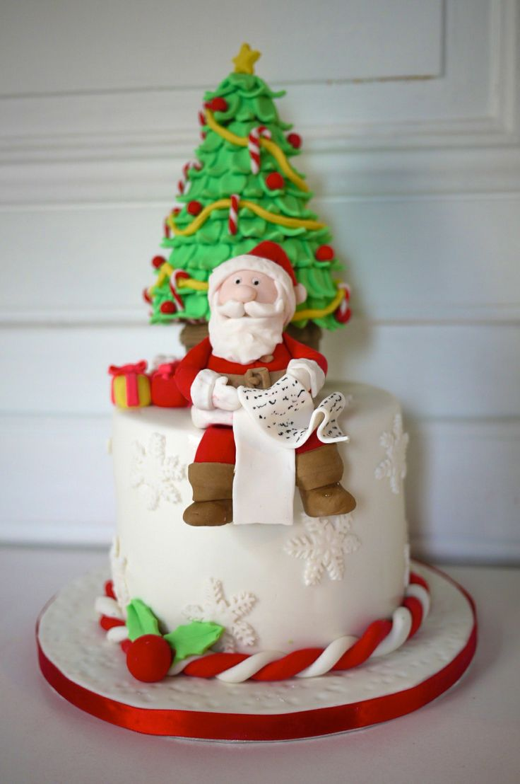 How to make a father christmas cake decoration - Find This Pin And More On Cake Fetish Christmas Cake Santa