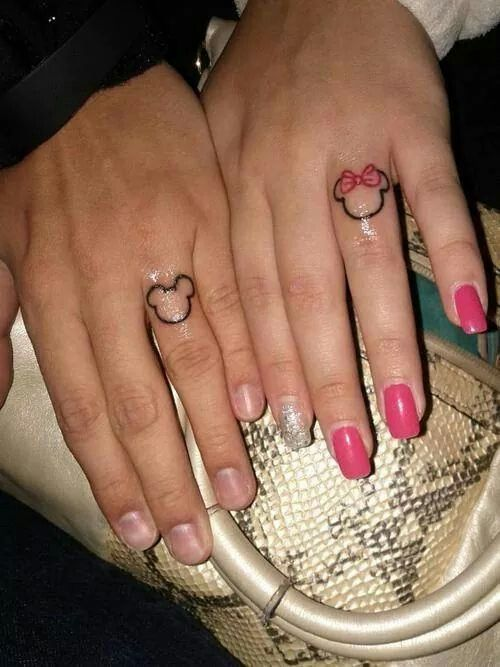 Mickey and minnie love on the wedding ring finger!! | new ...