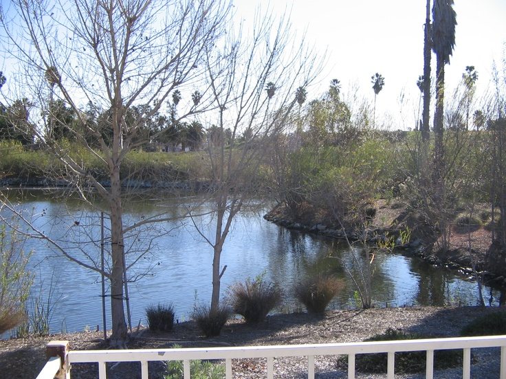 Love the views at Lake Los Serranos Senior Living Mobile Home park in Chino Hills