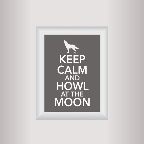 Wolf  Decor Art / Keep Calm Art Print / Living by affinityforyou, $10.00