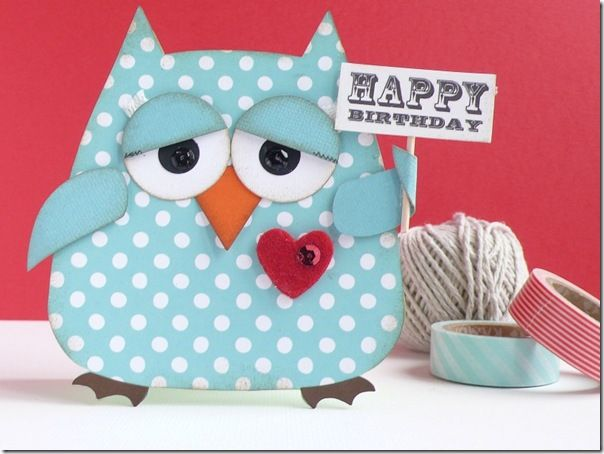 Blog Project by @Anna Totten Draicchio *café creativo*  http://sizzixukblog.blogspot.co.uk/2013/04/happy-birthday-owl-card-and-gift-wrap.html