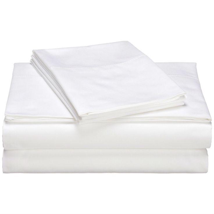 King size 400-Thread Count Egyptian Cotton Sheet Set in White