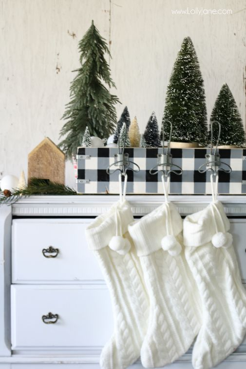 DIY Stocking Holder | Lolly Jane - Featured at the Home Matters Linky Party 163