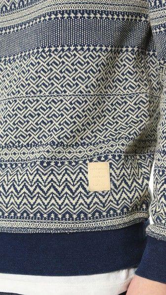 Scotch & Soda Indigo Jacquard Sweater                                                                                                                                                                                 More