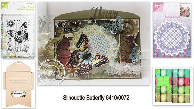 6410/0072 Noor! Design Stempel old letter butterfly door Jenine Langenhof - Siemerink