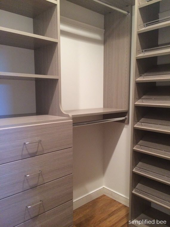 Easy closets the unit and closet on pinterest - Walk in wardrobes diy ...