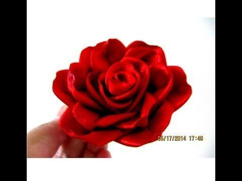 Flores red roses in ribbons en cintas para el cabello - vídeo en HD - YouTube