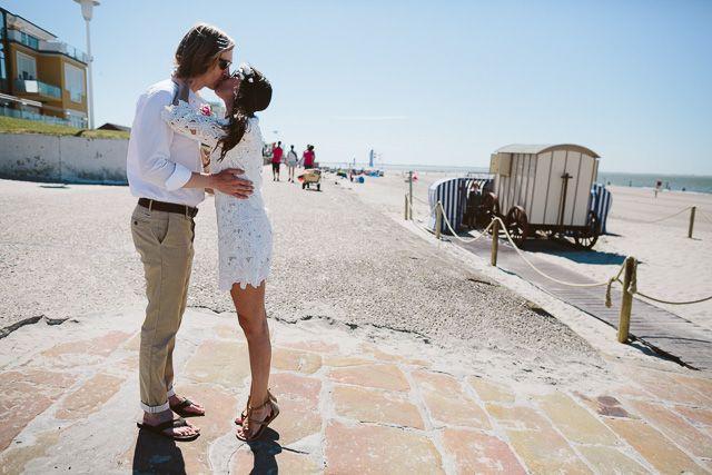 Intime Hochzeit auf Norderney im Badekarren   Hochzeitsblog The Little Wedding Corner