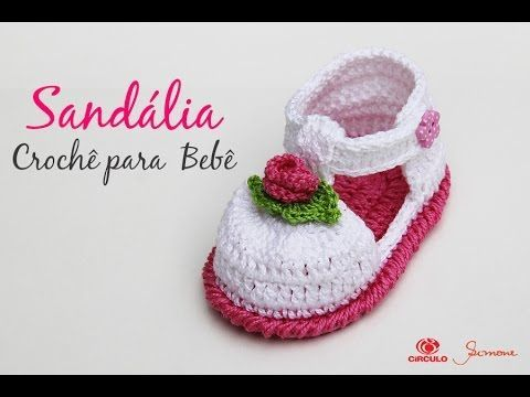Sandália de Crochê para bebê - Simone Eleotério - YouTube