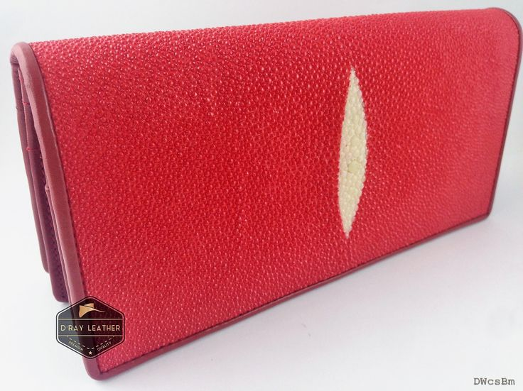 A stingray wallet for woman by @drayleather   Red Color. These stingray wallets have a pebbly texture with a highlighted central diamond.  . A beautifully handmade example of a sting ray wallet with a full cow skin interior. . • Hand selected stingray skin direct from the tannery. • Hand cut leather • A grade cowskin interior • 19cm x 10cm • card holders • ID holders • compartments • Bill divider • Fine stitched edge . Delivery Worldwide   Free Shipping 100% Brand New..