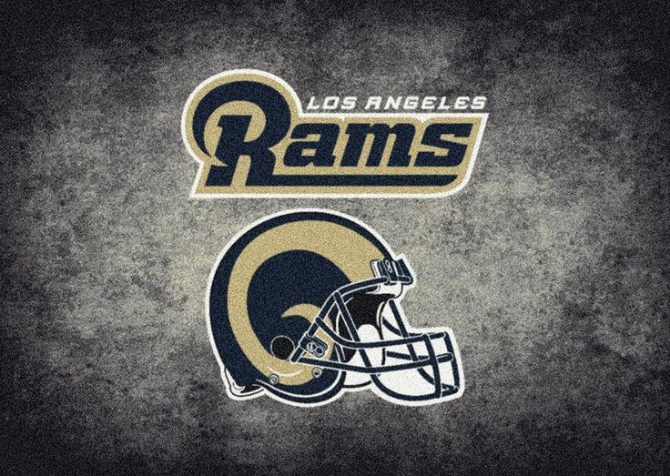 Los Angeles Rams Rug NFL Team Distressed