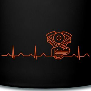 Mug with Harley Panhead Heartbeat Design. Visite my shop on Spreadshirt. Other colours, designs and clothes or gifts available! :o)