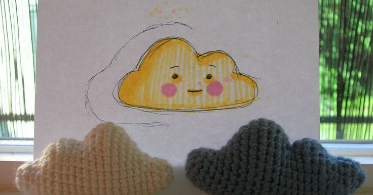 Here's a pattern I made for an amigurumi cloud. It is easy to crochet, but a bit hard to explain. Because of this the pattern involves a b...