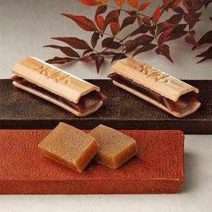 """""""手づくり最中""""と、蒸し栗の風味が楽しめる棹菓子。【ふくみ天平・栗月下】"""