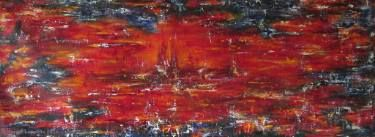 "Saatchi Art Artist Maryse Lapointe; Painting, ""Winter On The Red Planet - 2016 / Hiver sur la Planète rouge - 2016"" #art"