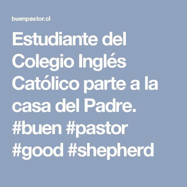 Estudiante del Colegio Inglés Católico parte a la casa del Padre. #buen #pastor #good #shepherd