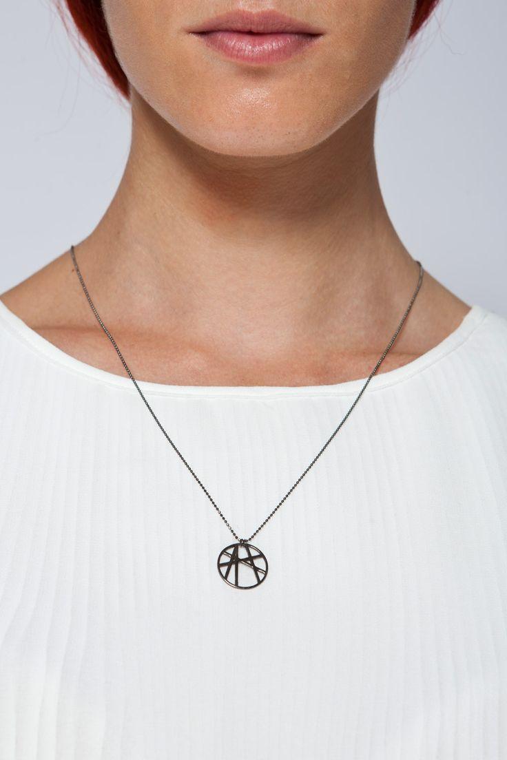 MOUTSATSOS - BLACK GOLD SOLEIL NECKLACE - Ozon Boutique #jewellery #moutsatsos #necklace