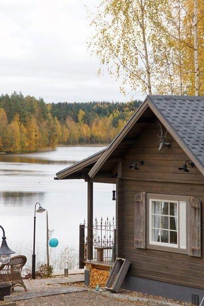 Sauna near lake. Finland
