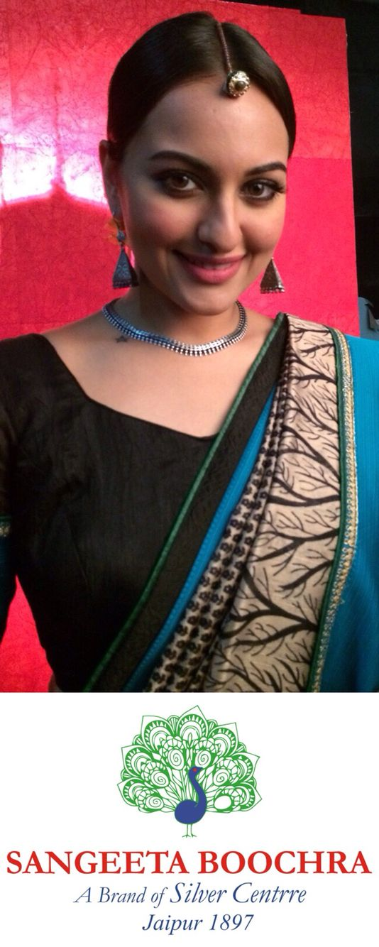 Sonakshi Sinha in Sangeeta Boochra Jewellery from the House of Silver Centrre Jaipur. www.silvercentrre.com
