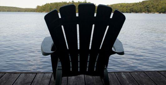 Sit back, relax, and enjoy being at Lucien Lake #lucienlake #watersedge #lakelife #relaxing #deckchairs #waterfrontproperty #lakefrontlots #sasklakefront