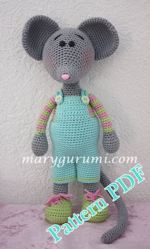 Pattern amigurumi Mr Souris au crochet