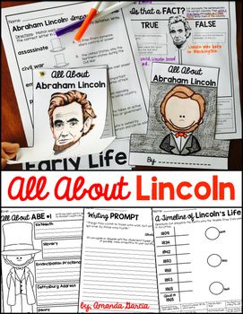 Students research and write all about Abraham Lincoln! This biography writing unit includes a hat-shaped craft for publishing.