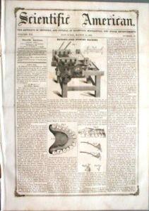 1857 Dental Method Of Mounting False Teeth.
