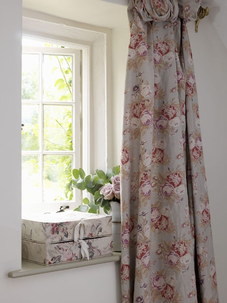 Curtains in Cabbages & Roses fabric