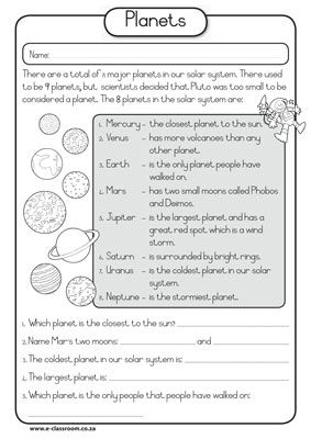 Planets of our solar system - click to view