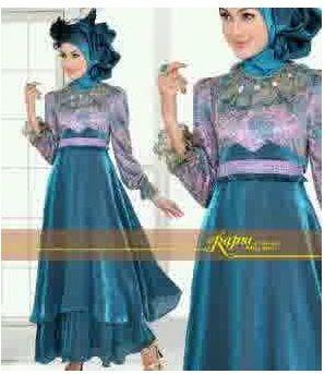 Kebaya Hijab (11)- Green Purple