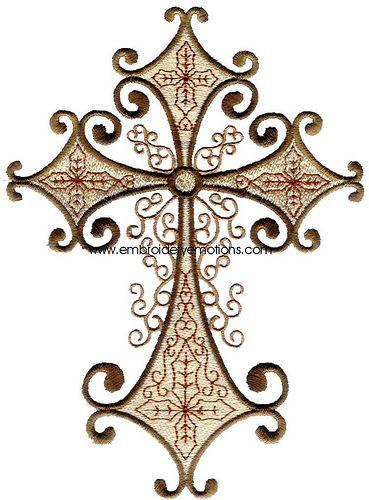 Decorative Crosses Machine Embroidery Designs