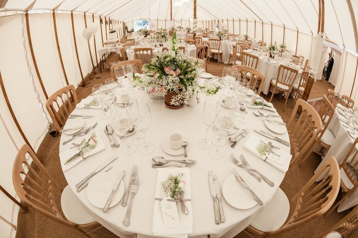 Inside traditional marquee