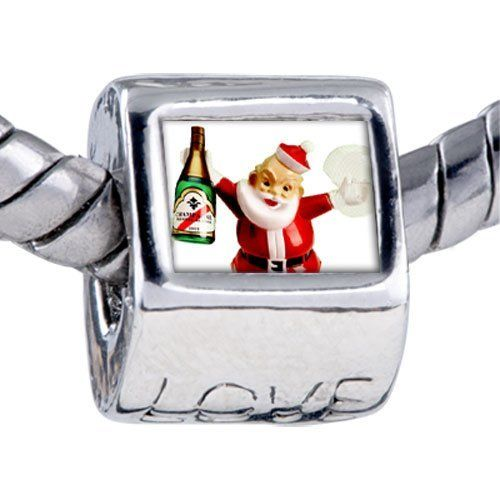 Pugster Champagne Santa Beads - Biagi Bead & Bracelet Compatible Pugster. $12.49. Hole size is approximately 4.8 to 5mm. Bracelet sold separately. It's the photo on the love charm. Unthreaded European story bracelet design. Fit Pandora, Biagi, and Chamilia Charm Bead Bracelets