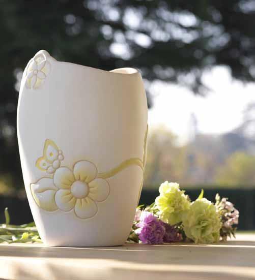 Linea Primavera 2012  Il bellissimo vaso con le cromie verdi e gialle, ad annunciare la primavera.
