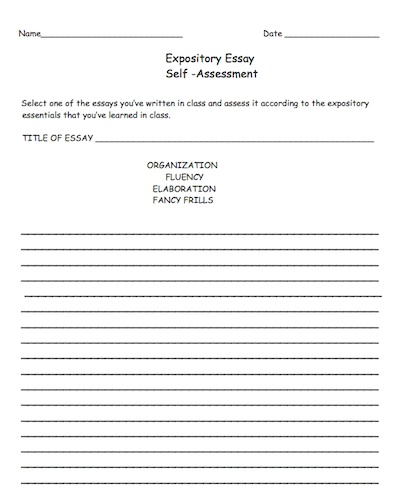 lesson plan on expository essay This lesson will be taught because in the intermediate grades, expository essay writing is ongoing in the future, students will have to know how to write an expository essay in order to complete certain assignments, as well as tests given to them.