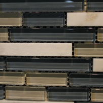 Master shower wall accent tile