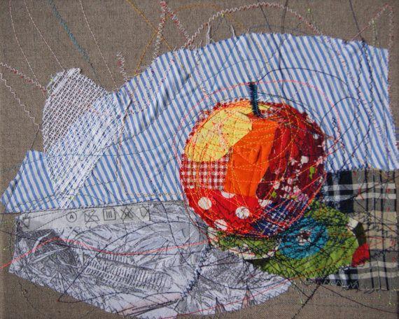 apple textile art